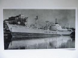 Polish General Cargo  Jan Żiżka In Szczecin Port   /   Illustration Reproduction - Autres