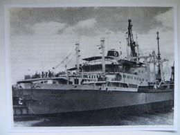 Czech Ship Krivan In Szczecin Port / Photo Reproduction - Autres