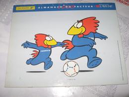 CALENDRIER - ALMANACH LA POSTE ANNÉE 1998 - FOOTIX 1998 La Vigne - Formato Grande : 1991-00