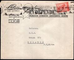 Argentina - 1959 - Carta - Cinema - Independencia Organizacion Distribuidora Cinematografica Argentina - A1RR2 - Cinema