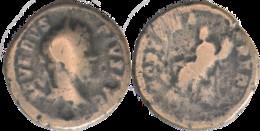 Rome - 203 AD - Denier Fourré - Septime Sévère - SEVERVS PIVS AVG - OPTIMA REDVX - Fortune Assise - RIC 264a - H109 - 4. La Dinastia Severi (193 / 235)
