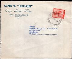 """Argentina - 1959 - Carta - Cinema - Cine Teatro """"Colon"""" - A1RR2 - Cinema"""