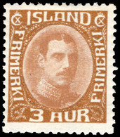 Iceland 1931-37 3a Bistre-brown Lightly Mounted Mint. - Unused Stamps
