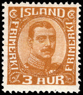 Iceland 1920 3a Bistre-brown Lightly Mounted Mint. - Unused Stamps