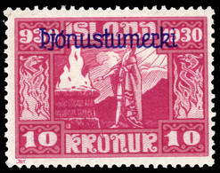 Iceland 1930 Parliamentary Millenary 10k Official (minor Faults) Lightly Mounted Mint. - Unused Stamps