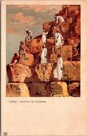 (5 A 17) Older Postcard - Egypt - Cairo - Le Caire - Ascension Des Pyramides - - Pyramiden