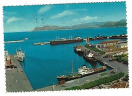 11.562 - PALERMO VEDUTA DEL PORTO 1977 ANIMATA BOAT NAVE SHIP - Palermo