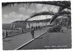 11.568 - VARAZZE SAVONA REGATE VELICHE INVERNALI ANIMATA AUTO CAR 1956 - Altre Città