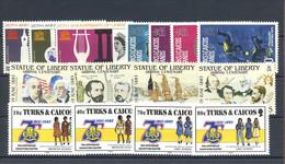 1985, Turks Und Caicos Inseln, 728-31 U.a., ** - Turks And Caicos