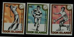 COOK ISLANDS 1985 LITTLE SOUTH PACIFIC GAMES RETONGA MI No 1074-6 MNH VF!! - Cookeilanden
