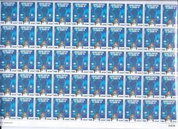 Peru 2021 Health & Medicine Covid 19 Coronavirus Full Sheet Of 50 Stamps - Disease