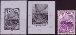 Tonga 1990 Ancient Navigators Sighting Land - 2 X Proof + Specimen - More Details In Description - Barche