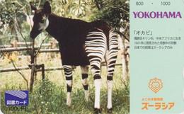 Carte Prépayée JAPON  - ANIMAL - OKAPI - JAPAN Prepaid Tosho Card / Girafe Giraffe - 171 - Non Classificati