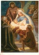72781697 Kuenstlerkarte A. Figel Weihnachten Neujahr Heilige Familie Christkind - Other Illustrators