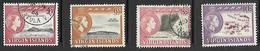 Virgin Islands 1964   Sc#147 7c, 149-51 6c/8c/10c Used  2016 Scott Value $5.25 - British Virgin Islands