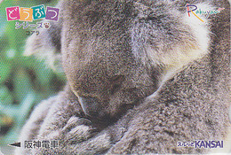 Carte Prépayée JAPON / Série Animaux Rakuyan - ANIMAL - KOALA - JAPAN Prepaid Card Train Ticket - 353 - Altri