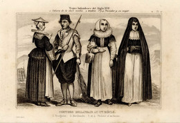 1846 Print Mode Fashion Suit Clothes Holland Netherlands  17th Century - Stampe & Incisioni