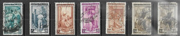 Italy   1950  7 Diff Used Including  Sc#567 & 567a  2016 Scott Value $7.25 - 1946-60: Usati