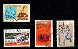 Guyana 1979 Sir Rowland Hill Centenary Set Of 3 Used - Guiana (1966-...)