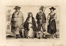 1846 Print Portugal Lisbon Residents Pitcher Fashion Clothes Suit - Stampe & Incisioni