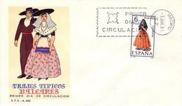 [E0042] España 1967, FDC Trajes Típicos: Baleares (NS) - FDC