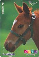 Carte JAPON / SERIE ANIMAUX RAKUYAN - ANIMAL - CHEVAL - HORSE JAPAN Prepaid Train Ticket Card -- PFERD 330 - Mucche