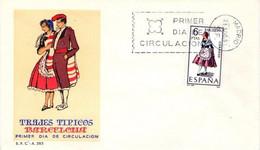[E0044] España 1967, FDC Trajes Típicos: Barcelona (NS) - FDC