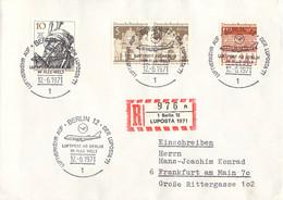 Germany Registered Cover 1971 1 Berlin 12 Luposta 1971 Luftverkehr Auf Der Luposta 1971 (DD31-38) - Aerei