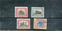 Guatemala 1902 Yt 121-122 125-126 Série Courante - Guatemala