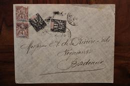 Martinique 1911 Cover Enveloppe France Paire - Briefe U. Dokumente