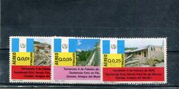 Guatemala 1976 Yt 576 578 582 * Timbres Pour La Poste Aérienne Tremblement De Terre Du 4 Février 1976 - Guatemala