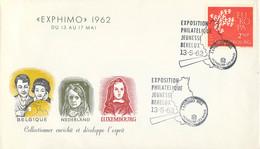 Luxembourg Cover 1962 Exphimo Exposition Philatelique Jeunesse Benelux (DD31-37) - Esposizioni Filateliche