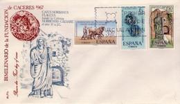 [E0048] España 1967, FDC Serie Bimilenario De La Fundación De Cáceres (NS) - FDC