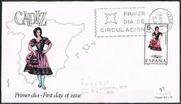 [E0049] España 1967, FDC Trajes Típicos: Cádiz (SU) - FDC