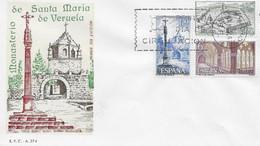 [E0050] España 1967, FDC Serie Monasterio De Veruela. Zaragoza (NS) - FDC