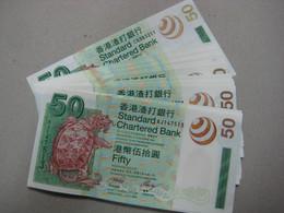2003 Hong Kong SCB $50 UNC  Number Random   €7 / Sheet - Hongkong