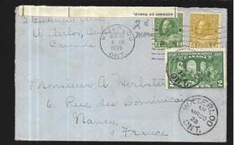 Canada Lettre Du 20 Mars 1928 De Waterloo  ( Ontario )  Pour Nancy ( M Et Melle ) - Covers & Documents