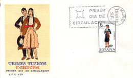 [E0052] España 1968, FDC Trajes Típicos: Córdoba (NS) - FDC