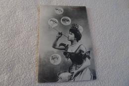 BELLE ILLUSTRATION ...JEUNE FEMME ET ANNEE 1905 ..LES SOUHAITS ...BONNE ANNEE - Bergeret