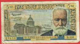France - Billet De 5 Nouveaux Francs Type Victor Hugo - 2 Mai 1963 - 5 NF 1959-1965 ''Victor Hugo''