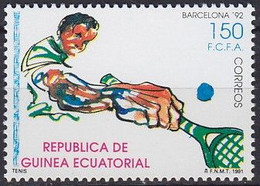 1992 GUINÉE ÉQUATORIALE Equatorial Guinea  ** MNH Tennis   Tenis [ei73] - Tennis