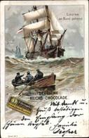 Artiste Lithographie Stöwer, Willy, Lotse An Bord Gehend, Segelschiff, Reklame, Sprengel Schokolade - Unclassified