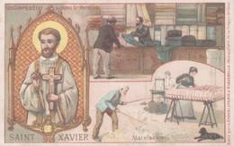 CHROMO CHOCOLAT D'AIGUEBELLE SAINT-XAVIER PATRON DES DRAPIERS ET MATELASSIERS - Aiguebelle