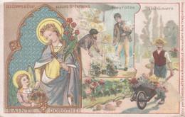 CHROMO CHOCOLAT D'AIGUEBELLE SAINTE-DOROTHEE PATRONNE DES FLEURISTES ET JARDINIERS - Aiguebelle