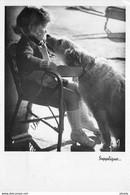 """Photo Cmsm éditions Yvon """" MONIQUE ET MIRETTE """" Son Chien. La Supplique - Dogs"""