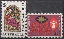 AUSTRALIA 422-423,unused,Christmas 1969 - Nuovi
