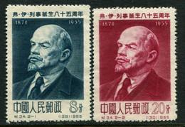 China 1955 Mi 282-283 (*)  Lenin - Ungebraucht