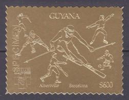 1992Guyana3980 Gold1992 Olympic Games In  Barcelona - SPECIMEN20,00 € - Invierno 1992: Albertville