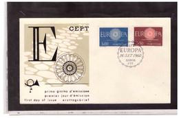 FDC7762  -    LISBOA 16.9.1960  /  PORTOGALLO   FDC  EUROPA CEPT 1960 - 1960