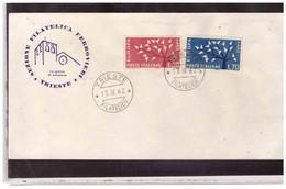 FDC7772  -   TRIESTE   17.9.1962    /  ITALIAA    FDC  EUROPA CEPT 1962 - 1962
